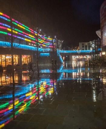Friars Walk Newport City Centre at Night